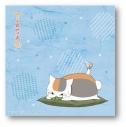 【グッズ-タオル】夏目友人帳 描き下ろし ニャンコ先生ハンドタオル(枝豆)の画像