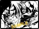 【グッズ-切り絵】進撃の巨人 キリトリエ エレン&ミカサ&アルミンの画像