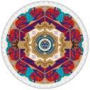 【グッズ-タオル】Fate/Grand Order -絶対魔獣戦線バビロニア- ラウンドタオル(ギルガメッシュ)の画像