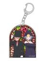 【グッズ-キーホルダー】死神坊ちゃんと黒メイド ステンドグラス風アクリルキーホルダー 坊ちゃんとアリスの画像