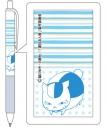 【グッズ-ボールペン】夏目友人帳 ニャンコ先生のジェットストリーム (ブルー)の画像