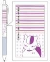 【グッズ-ボールペン】夏目友人帳 ニャンコ先生のジェットストリーム (ラベンダー)の画像