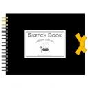 【グッズ-スケッチブック】劇場版 夏目友人帳 ニャンコ先生のF0スケッチブック ブラックの画像
