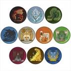 【グッズ-バッチ】モンスターハンター:ワールド モンスターアイコン刺繍缶バッジコレクション Vol.2