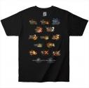 【グッズ-Tシャツ】モンスターハンター15th Tシャツ 歴代タイトルロゴ ブラック XLの画像