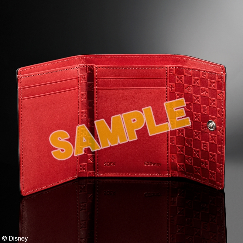 キングダムハーツ 三つ折り財布 <ブラック & レッド>_1
