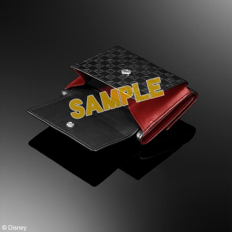 キングダムハーツ 三つ折り財布 <ブラック & レッド>_2