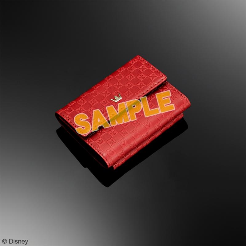 キングダムハーツ 三つ折り財布 <レッド & ブラック>_0