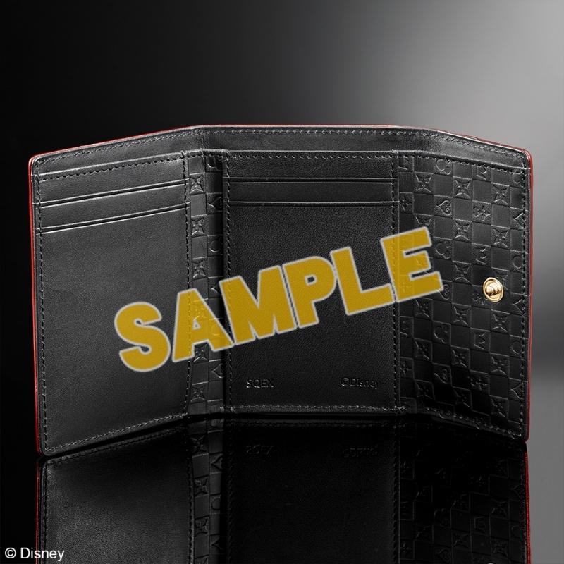 キングダムハーツ 三つ折り財布 <レッド & ブラック>_1