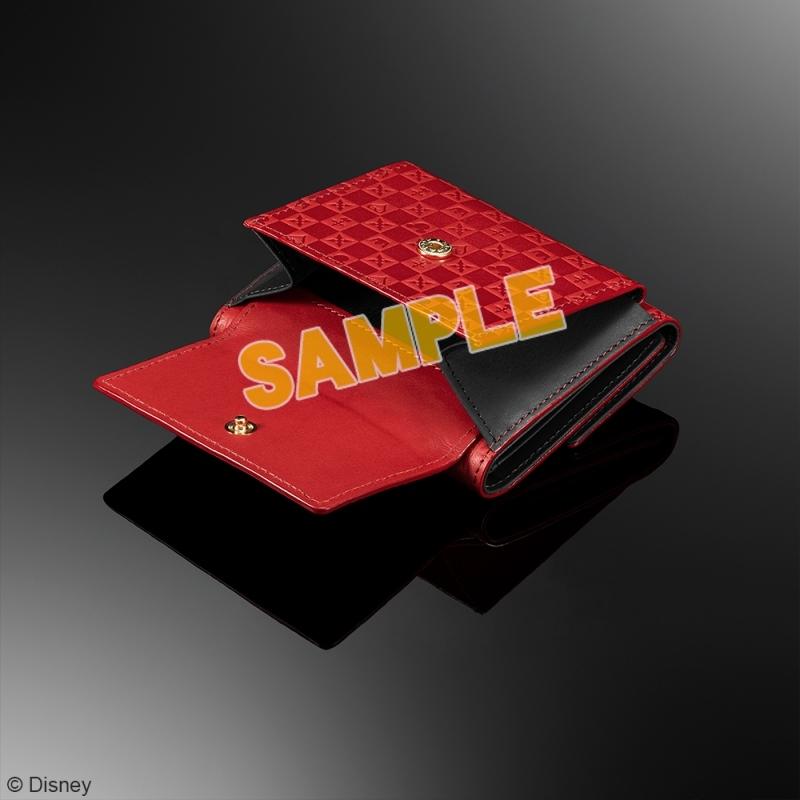 キングダムハーツ 三つ折り財布 <レッド & ブラック>_2