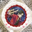 【12月21日発送分・プリケーキ】ゲーム『夢色キャスト』クリスマスケーキ ホイップクリーム(新堂カイト)の画像