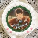 【12月21日発送分・プリケーキ】ゲーム『夢色キャスト』クリスマスケーキ ホイップクリーム(藍沢湧太郎)の画像