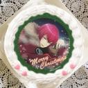 【12月21日発送分・プリケーキ】ゲーム『夢色キャスト』クリスマスケーキ ホイップクリーム(朱道岳)の画像