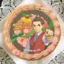 【12月14日発送分・プリケーキ】ゲーム『逆転裁判』クリスマスケーキ チョコクリーム(王泥喜)の画像