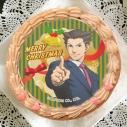 【12月21日発送分・プリケーキ】ゲーム『逆転裁判』クリスマスケーキ チョコクリーム(成歩堂A)の画像