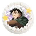 【01月18日発送分・CY02】テレビアニメ「進撃の巨人」Season 3キャラクターケーキ (リヴァイ)の画像