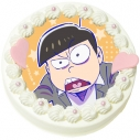 【09月27日発送分・DQ05】「えいがのおそ松さん」キャラクターケーキ(十四松)の画像